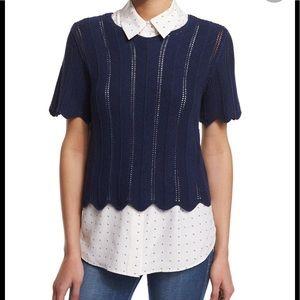 NWOT Frame Short Sleeve Boxy Top/Sweater